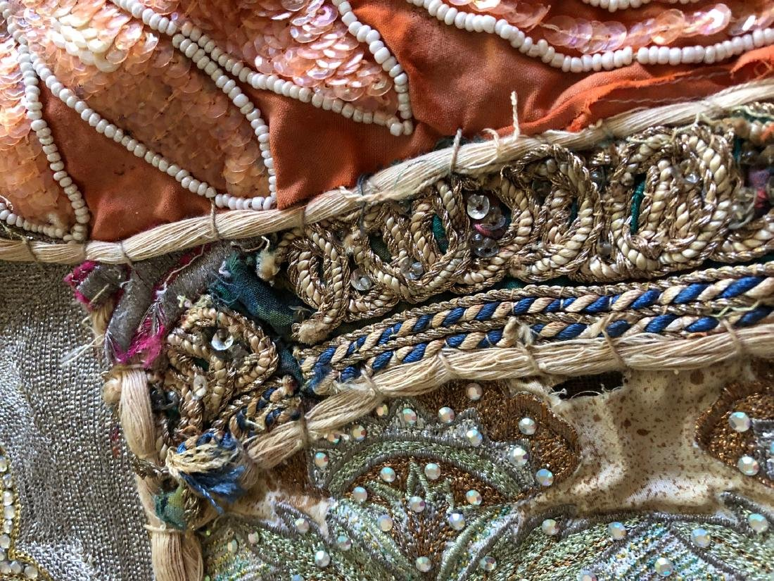 Vintage Hand-Crafted Indian Multi-Fabric, Beaded - 15