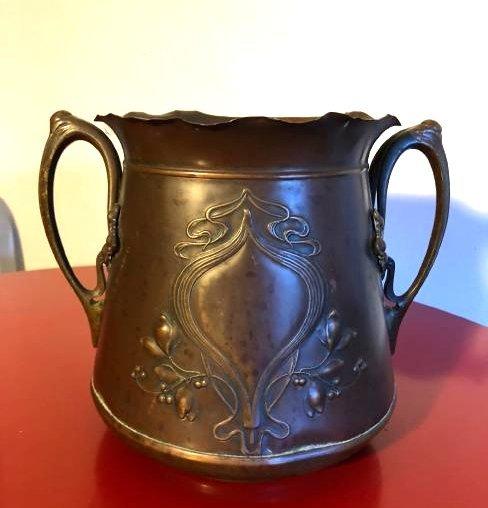 Antique WMA Copper Pot with Handles