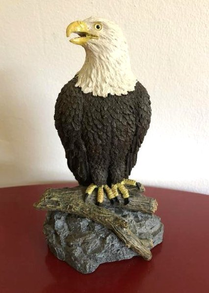 Bald Eagle Perched on Rock Statue by Living Stone, Inc.