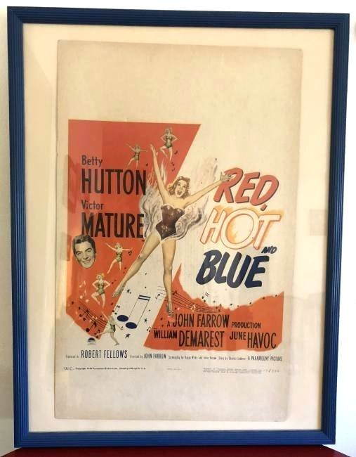 Original 1949 Red, Hot, and Blue Ad Poster, Numbered