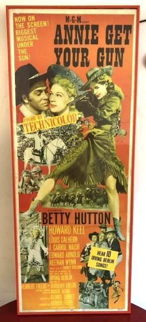 1950 Annie Get Your Gun Ad Poster, Custom Framed