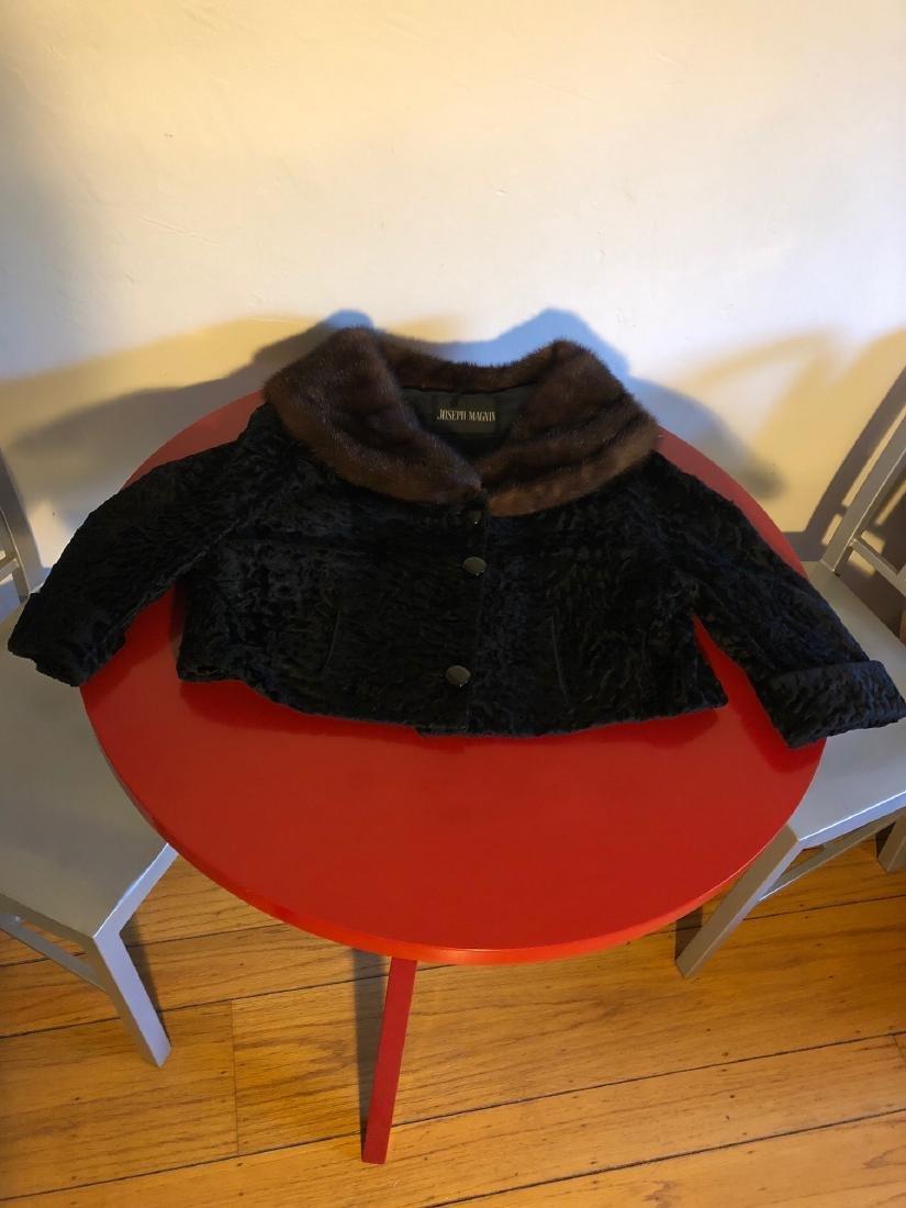 Vintage Joseph Magnin Persian Lamb, Mink Jacket by Ruth - 2