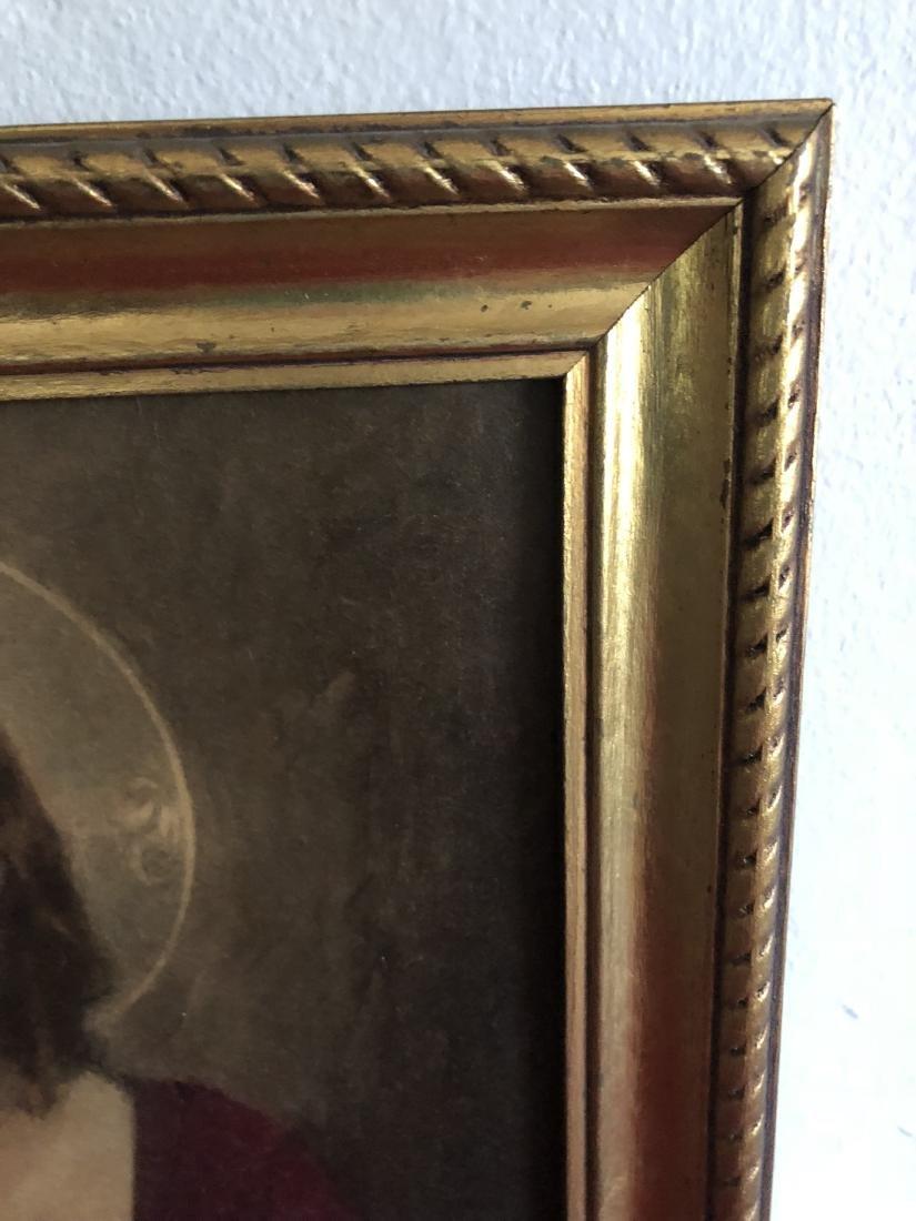 Oil on Panel Print, Jesus Sacred Heart, C. Bosseron - 2
