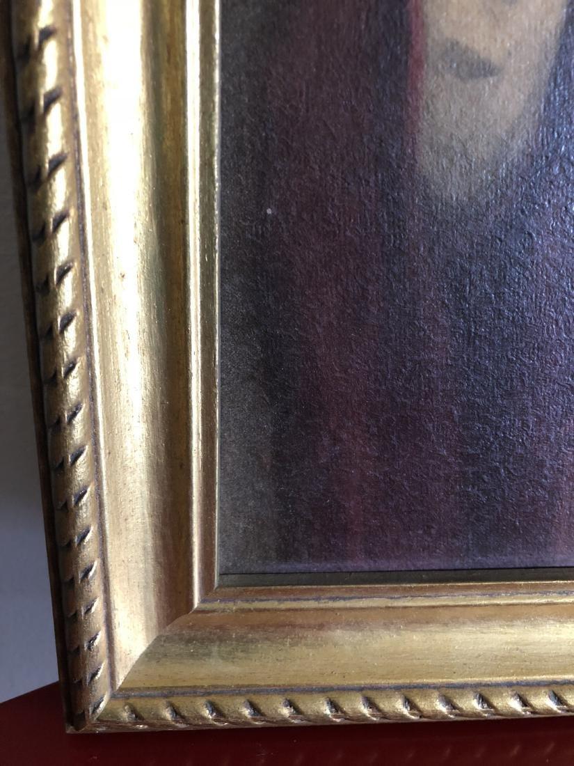 Oil on Panel Print, Jesus Sacred Heart, C. Bosseron - 4