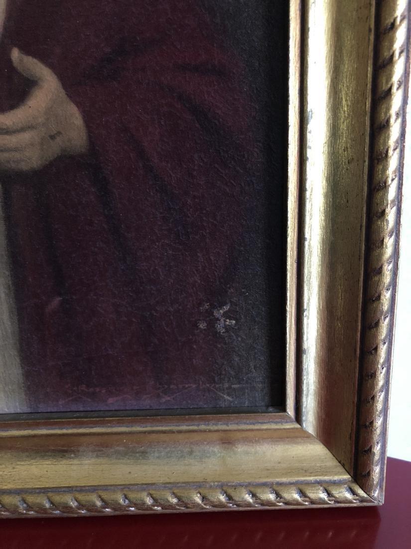 Oil on Panel Print, Jesus Sacred Heart, C. Bosseron - 5
