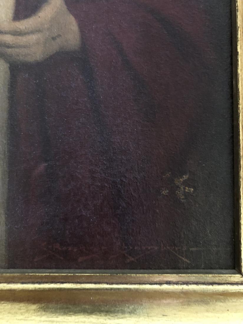 Oil on Panel Print, Jesus Sacred Heart, C. Bosseron - 6