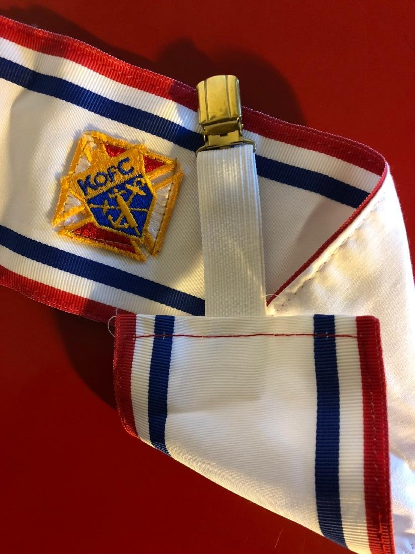 Vintage Knights of Columbus Sash and Suspender - 2