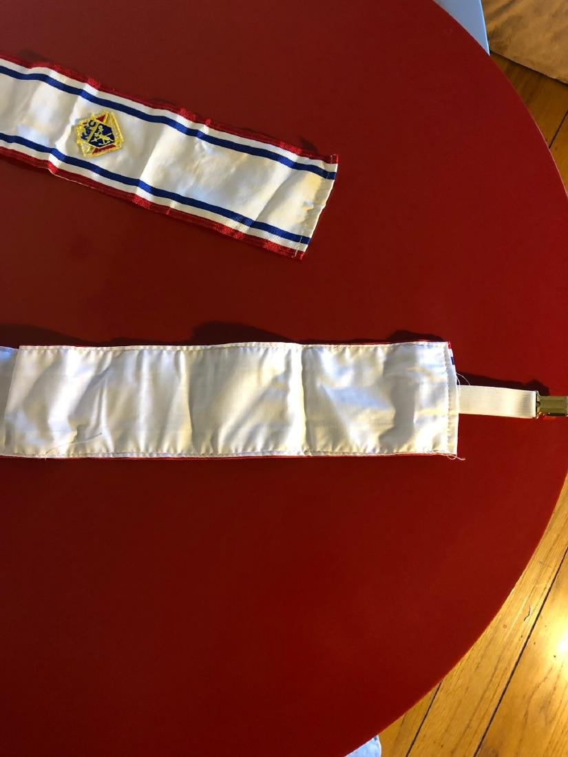 Vintage Knights of Columbus Sash and Suspender - 3