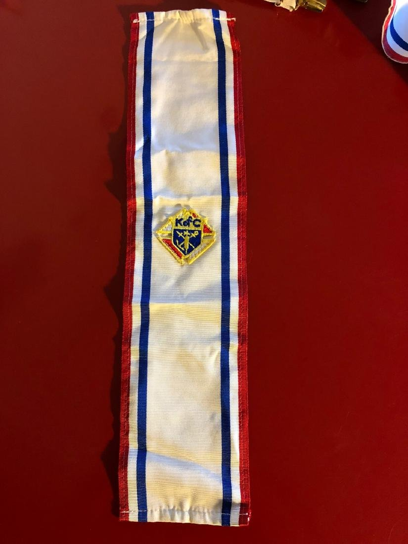 Vintage Knights of Columbus Sash and Suspender - 6