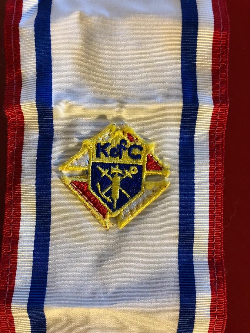 Vintage Knights of Columbus Sash and Suspender - 7
