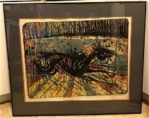 """Wild Horse"" Serigraph by Melvin John Ramos"