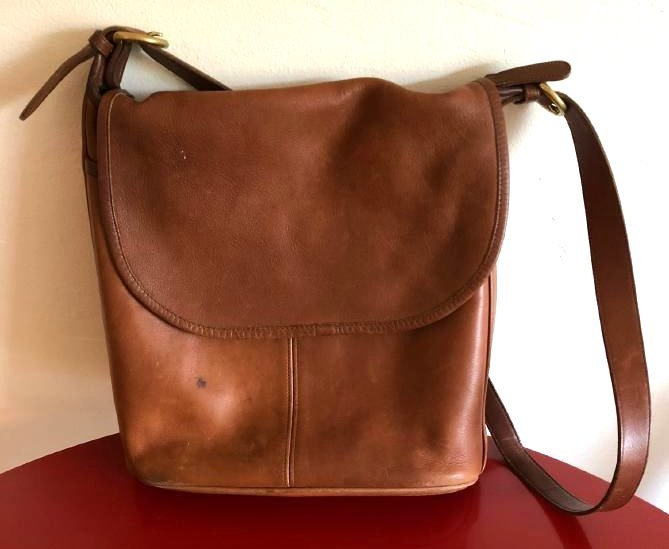 Vintage Leather Coach Handbag