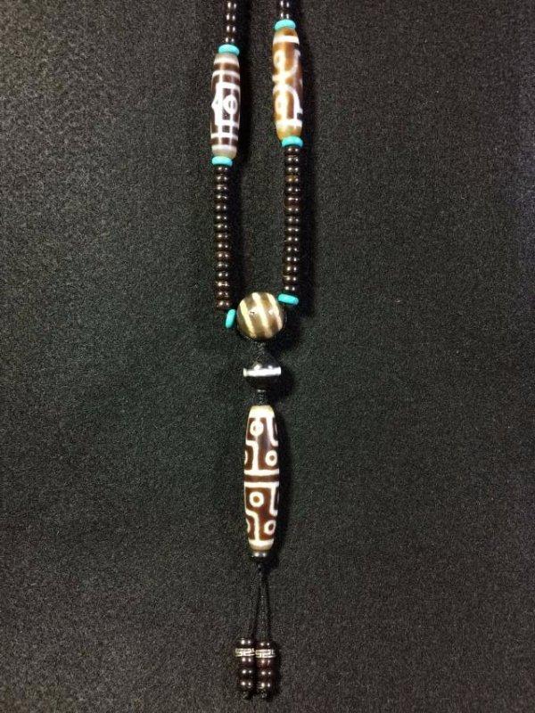 Eye Dzi bead & Dzi necklace - 2