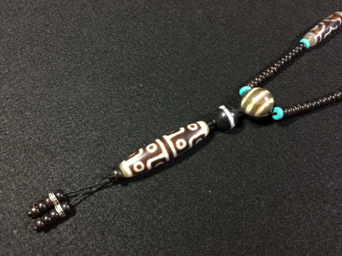 Eye Dzi bead & Dzi necklace - 7
