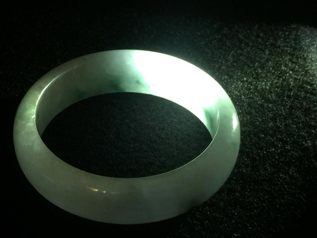 Chinese jadeite like store bangle bracelet - 7