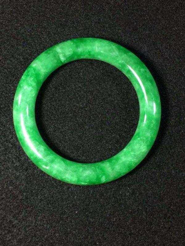 Chinese green jadeite like store bangle bracelet - 2