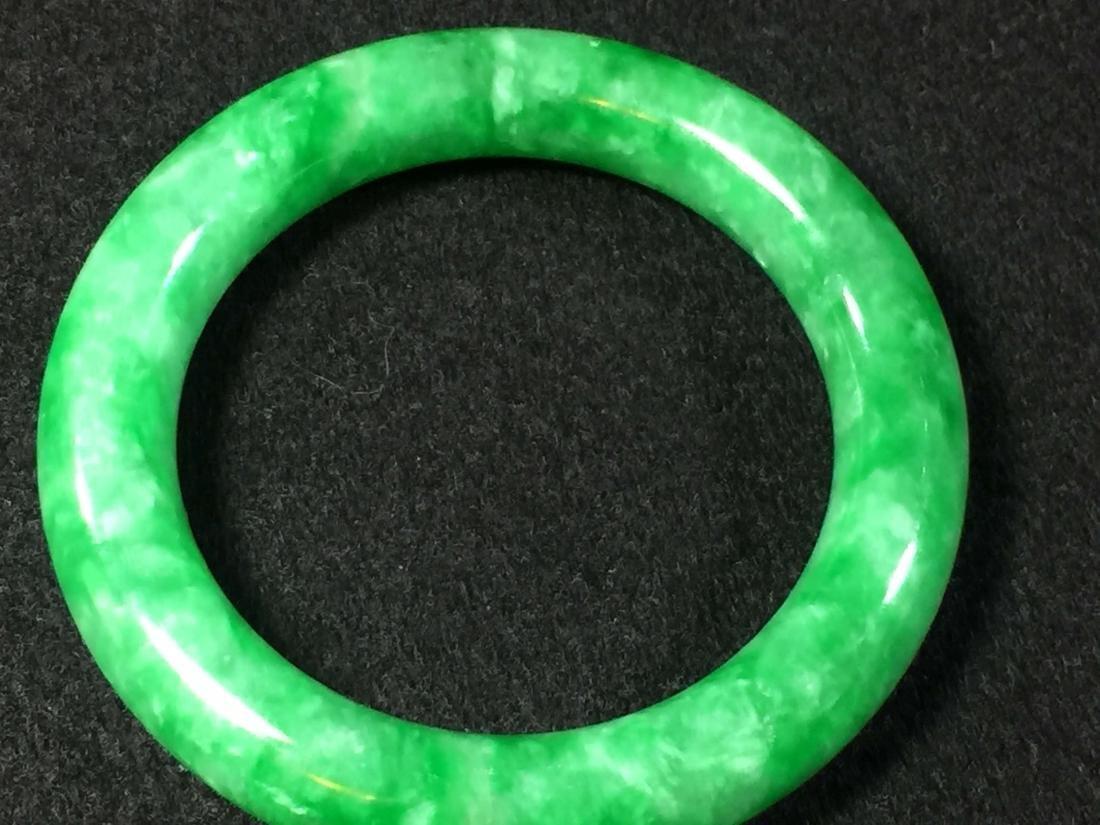 Chinese green jadeite like store bangle bracelet - 4