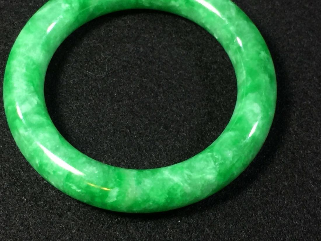 Chinese green jadeite like store bangle bracelet - 5