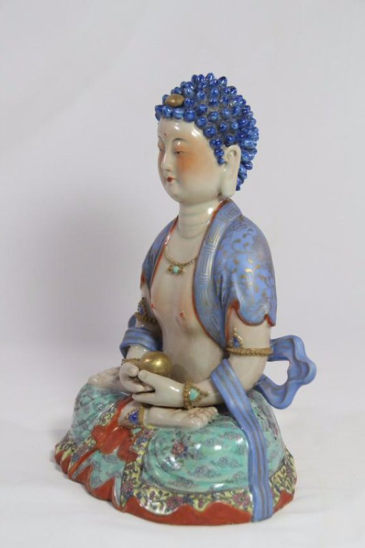 Chinese antique porcelain Buddha - 2