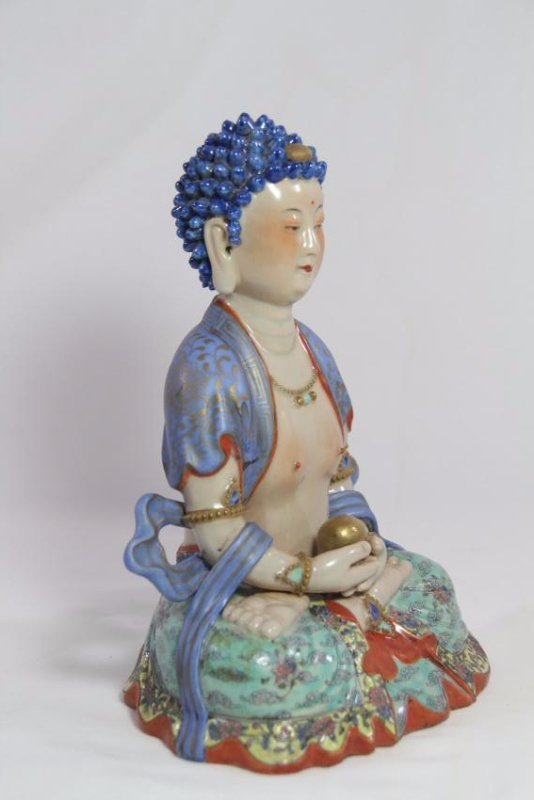 Chinese antique porcelain Buddha - 4
