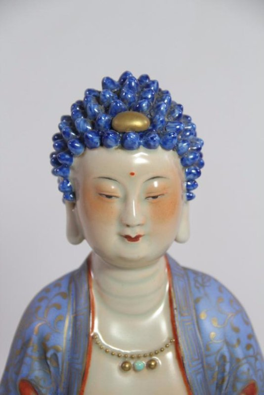 Chinese antique porcelain Buddha - 8