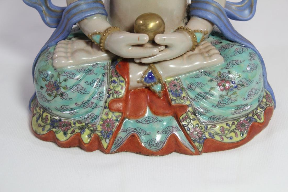 Chinese antique porcelain Buddha - 9