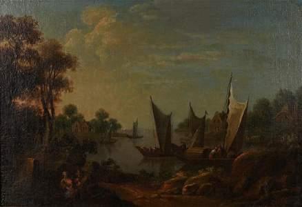 Old Master Circle of Salomon van Ruysdael, Dutch 18th
