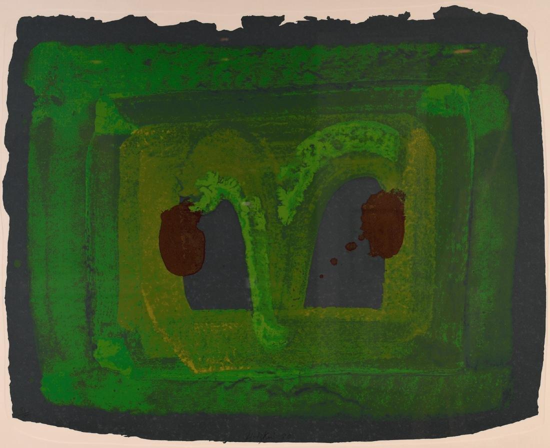 """Howard Hodgkin, British, 1932-2017, """"Lotus"""