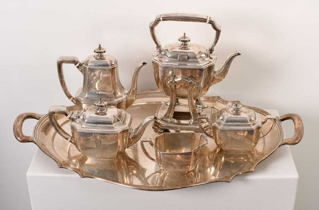 Louis Comfort Tiffany, American Sterling Tea Set