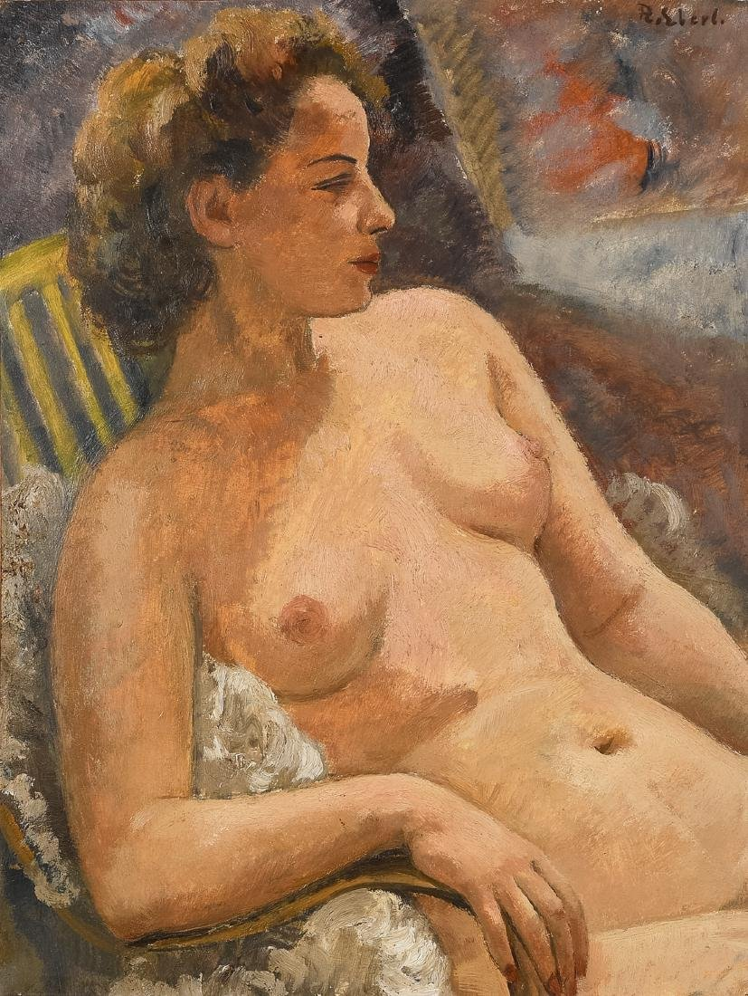 Frantisek Eberl , 1887-1952, oil on canvas, nude