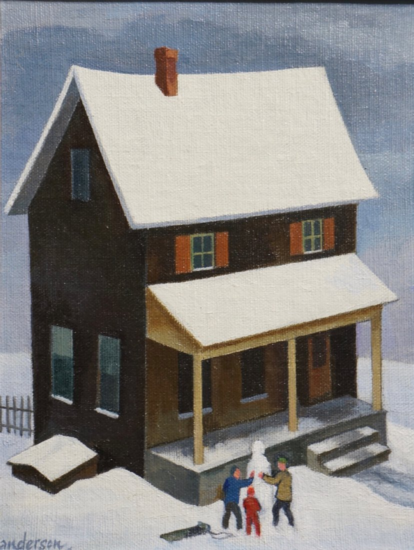 William Sanderson, American, 1905-1990, Oil on Board