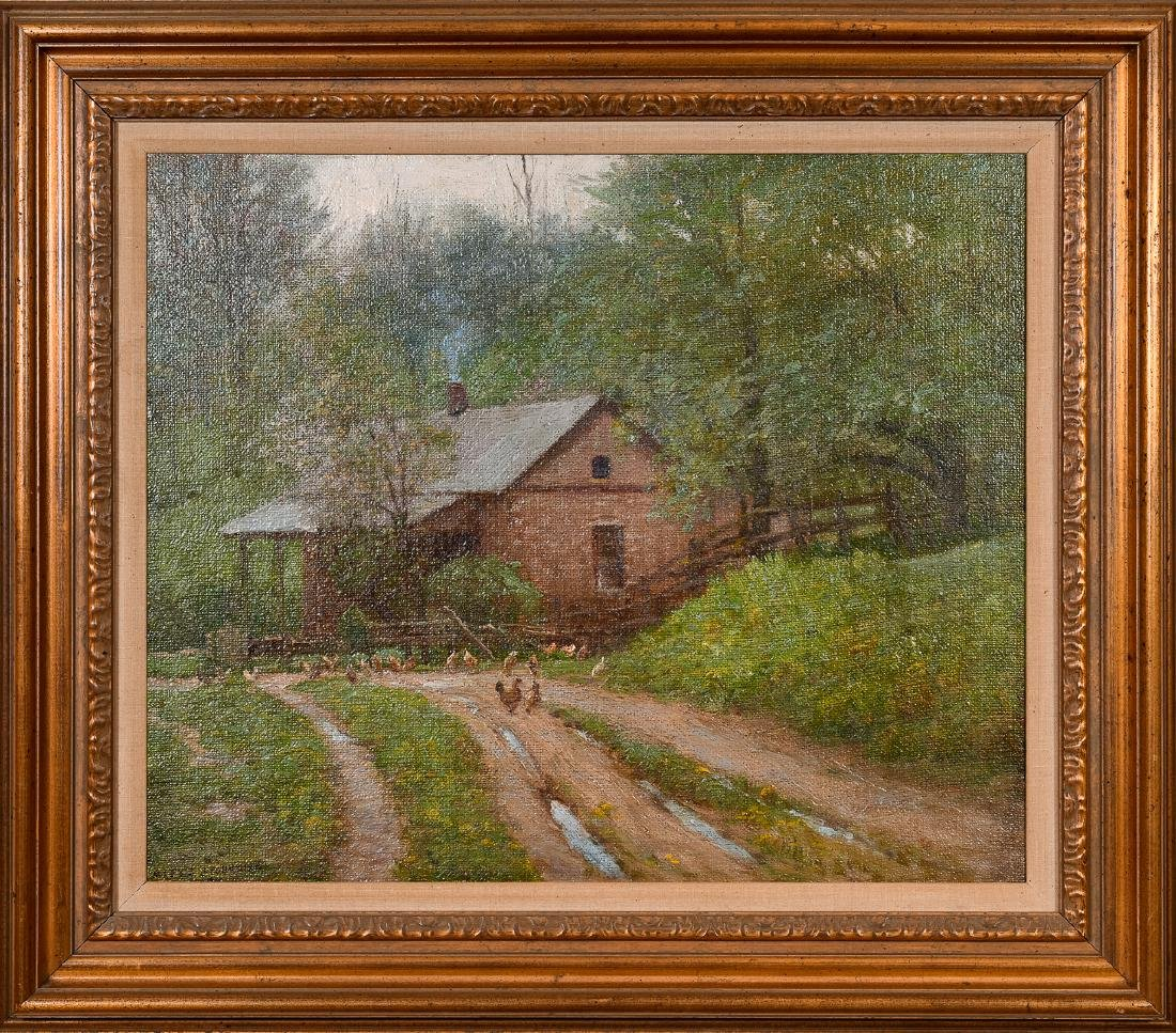Alexis Jean Fournier, Oil on Masonite Painting