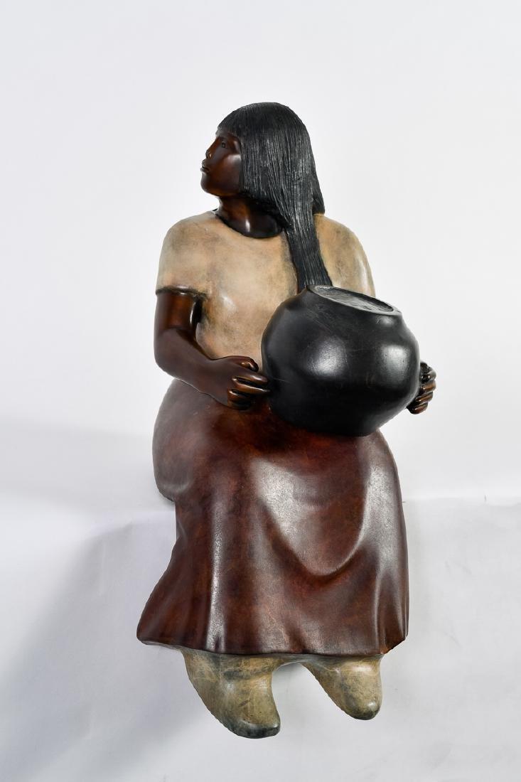 "Doug Hyde, ""Laguna Potter,"" Bronze Sculpture"