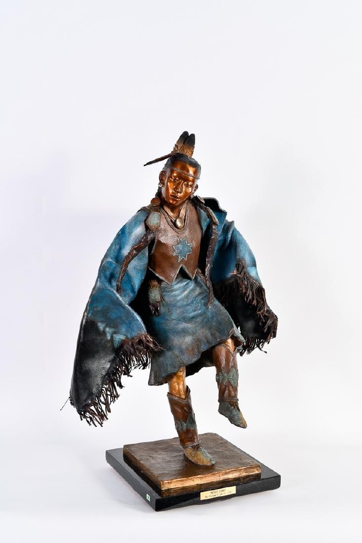 "Oreland Joe, ""Night Star,"" Bronze Sculpture"