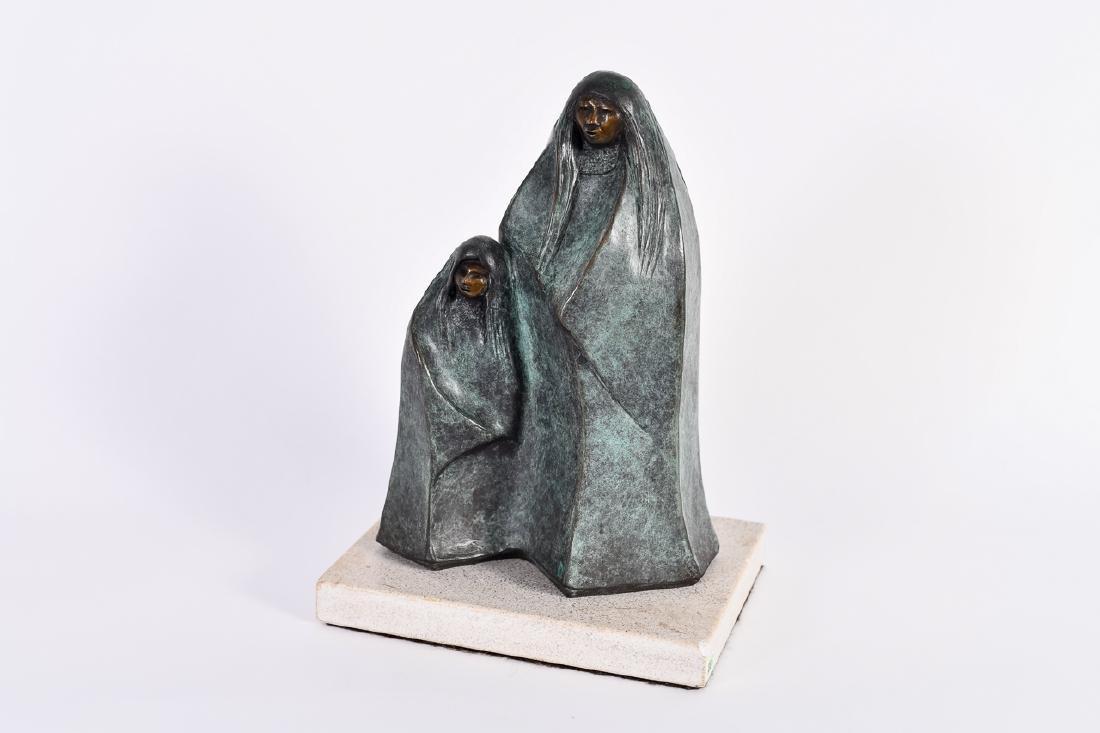 """Allan Houser, """"Gathering Clouds,"""" Bronze Sculpture"""