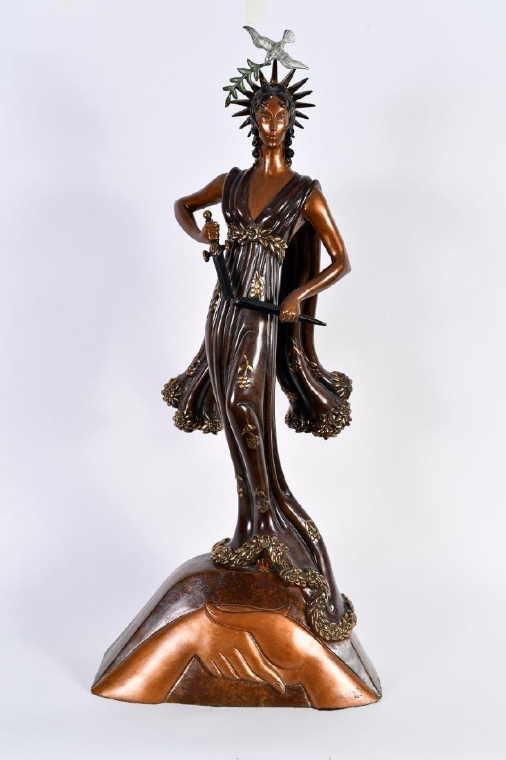 "Romain de Tirtoff/Erté, ""Peace,"" Bronze Sculpture"