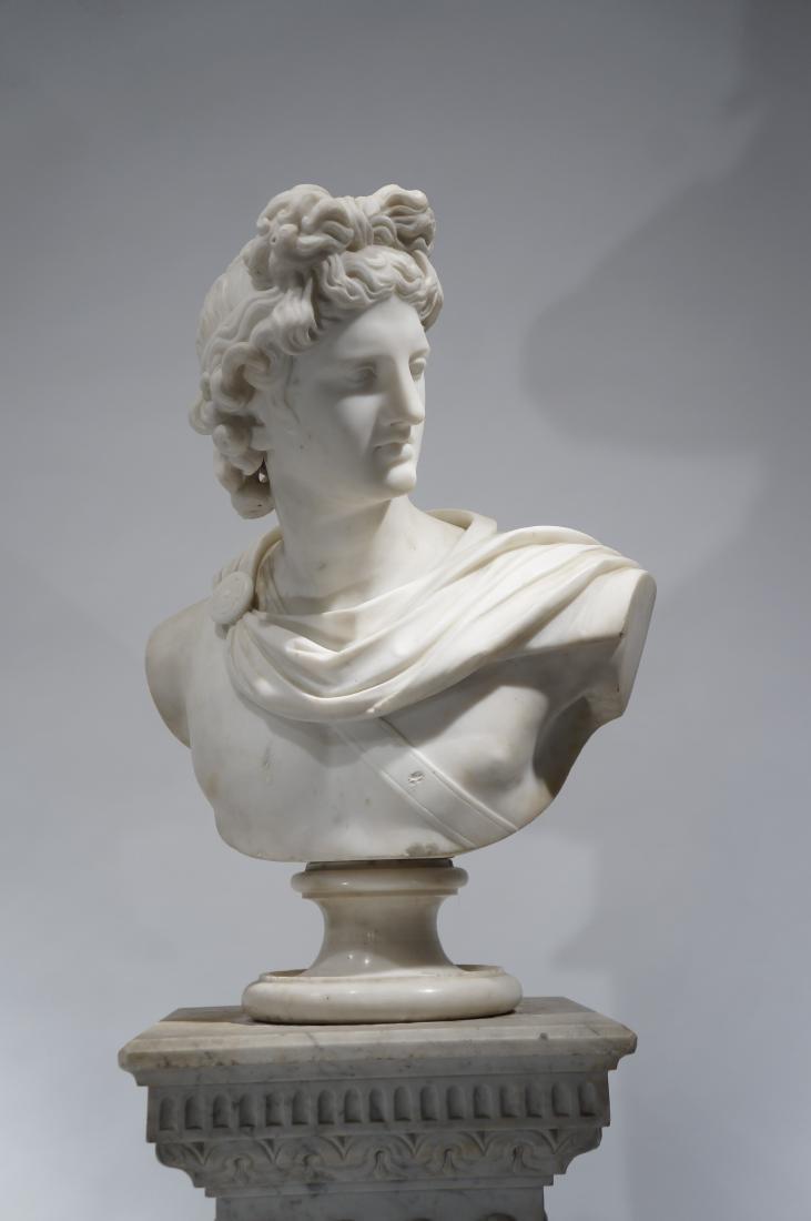 Italian School, Marble Bust of Apollo