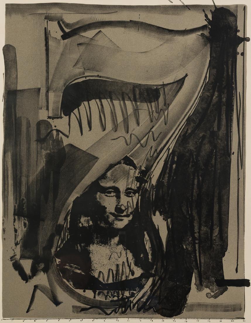 "Jasper Johns, ""Figure 7,"" Lithograph, 1968"