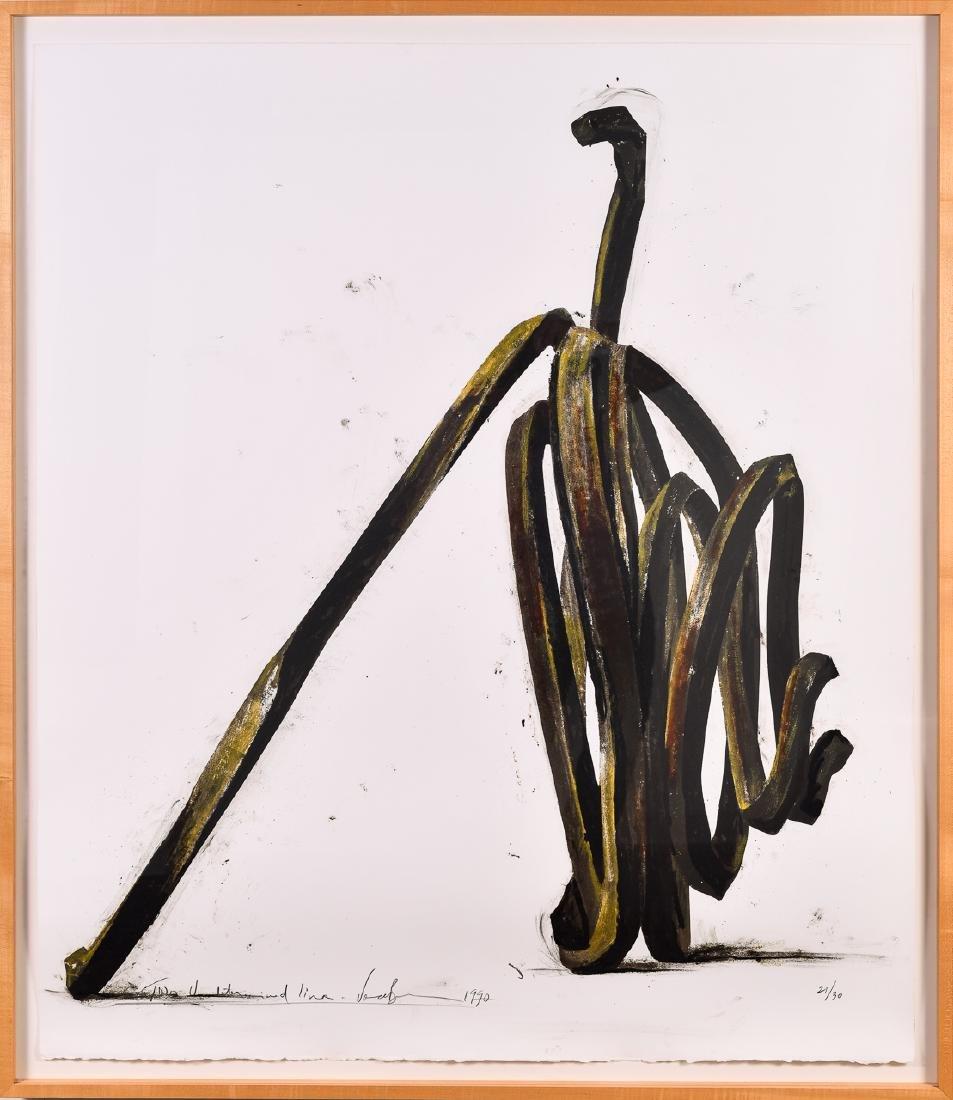 Bernar Venet (b. 1941), Lithograph Undetermined Lines