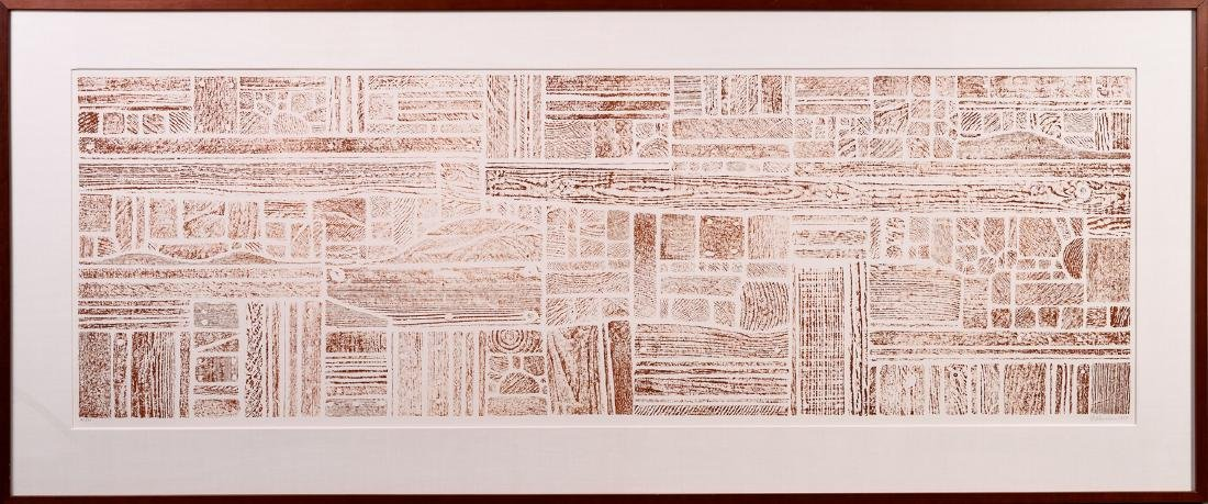 George Morrison (1919-2000), Wood Collage Rubbing