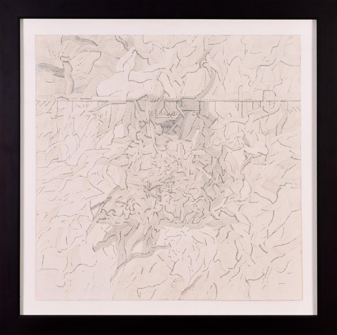 "George Morrison, ""Untitled,"" Ink on Paper, 1972"