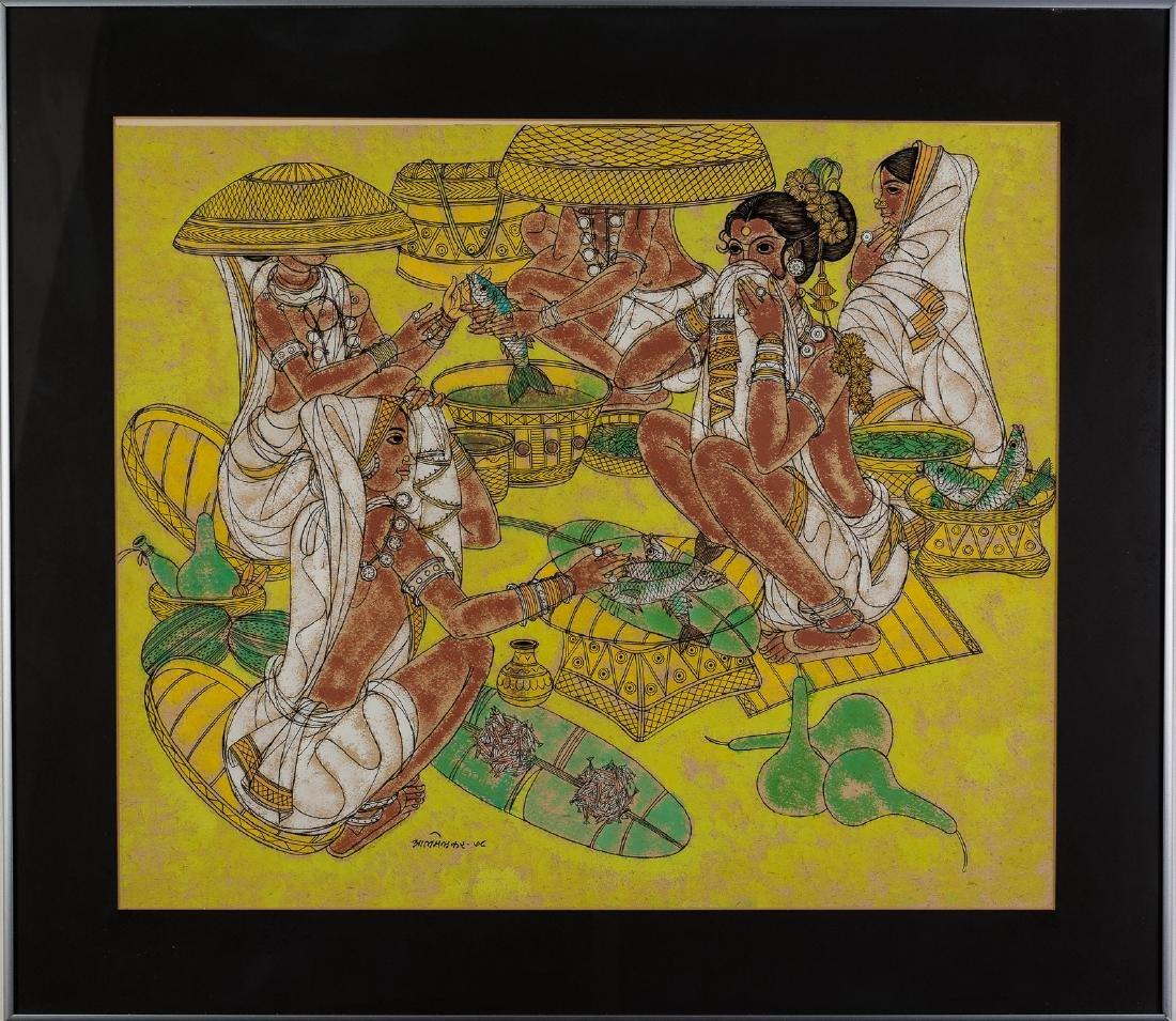 Abdul Almelkar, Ink, Pastel and Gouache Painting - 2