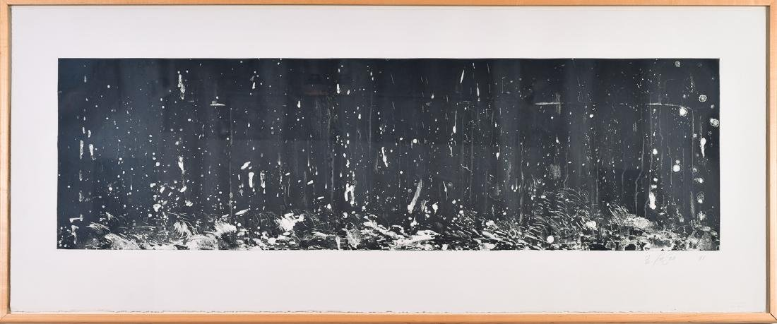 "Pat Steir, ""From the Boat,"" Lithograph, 1991"
