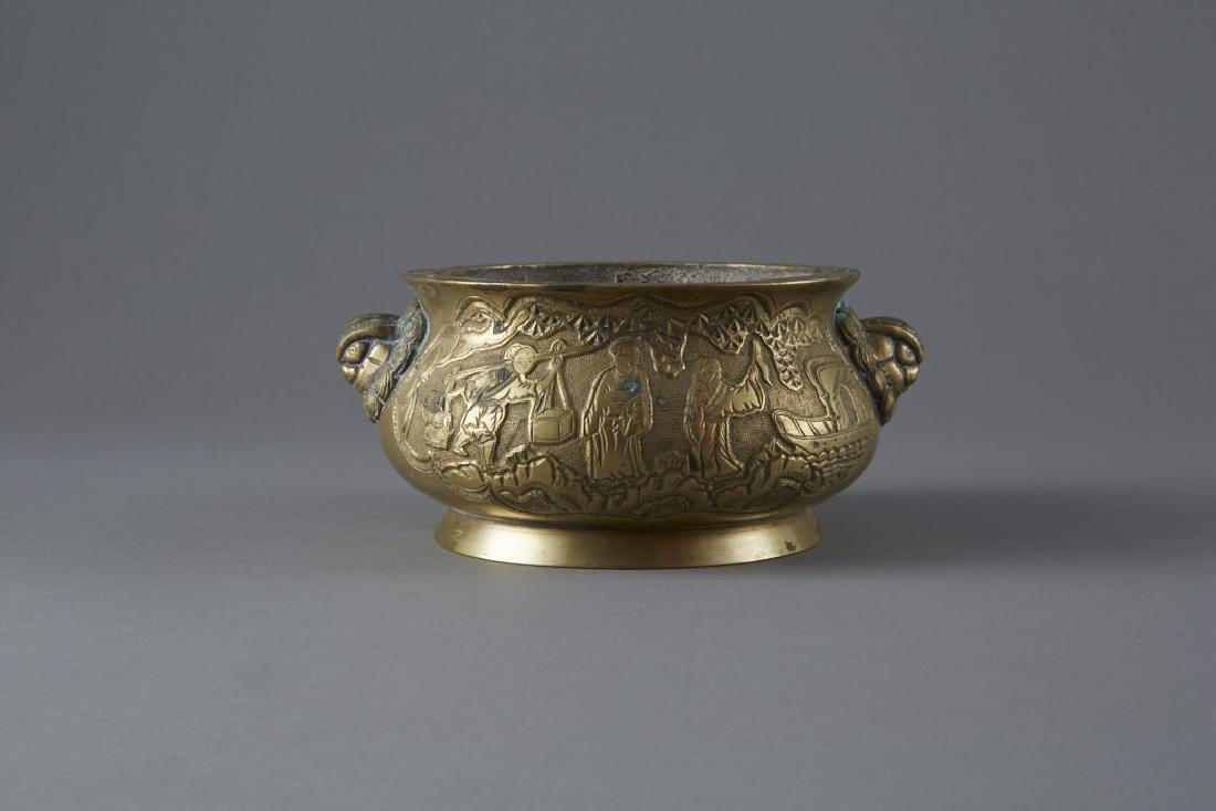 Chinese Bronze Censer - Xuande Mark - BTC Acpt - 3