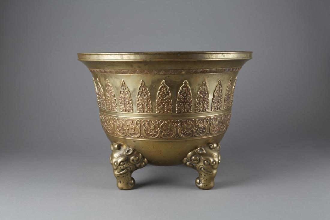 20th C. Chinese Cast bronze Planter