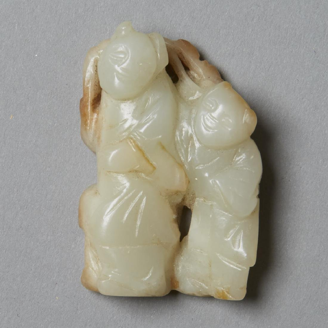 3: 19th C. Chinese Jade Carved Figures - 3