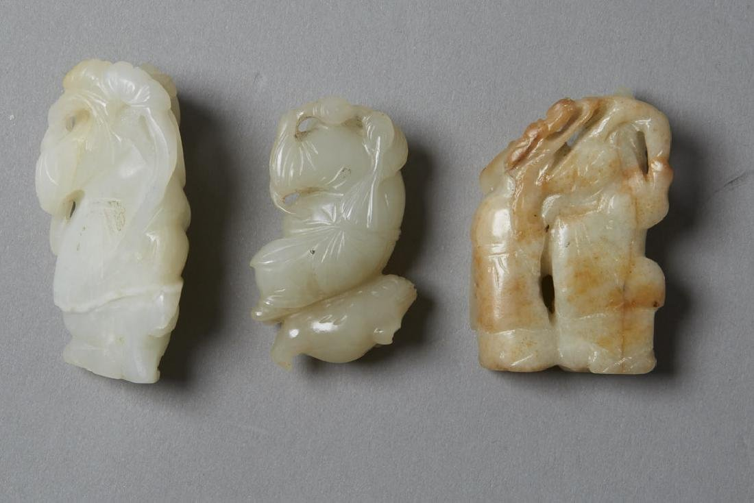 3: 19th C. Chinese Jade Carved Figures - 5