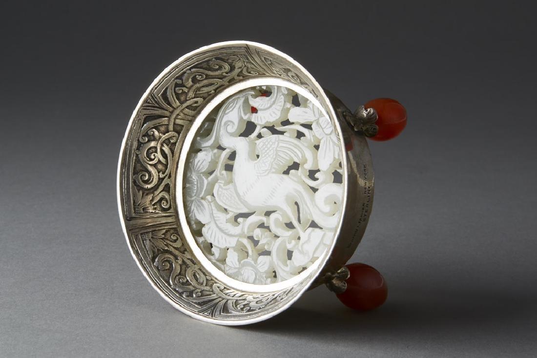 Chinese Qing White Jade Plaque - Edward Farmer-BTC Acpt