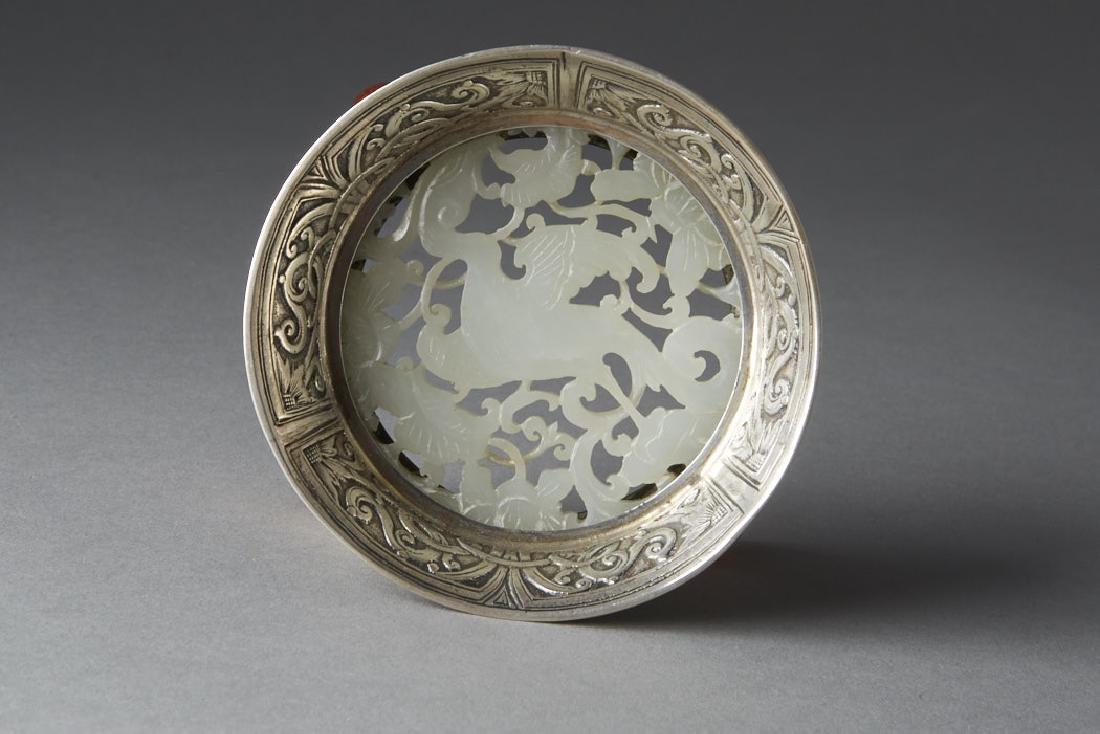 Chinese Qing White Jade Plaque - Edward Farmer-BTC Acpt - 3