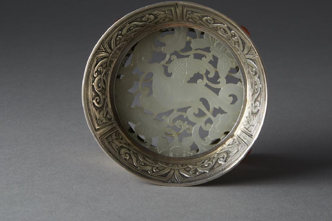 Chinese Qing White Jade Plaque - Edward Farmer-BTC Acpt - 4